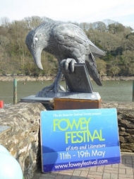 The 'rook with a book': new sculpture unveiled in Fowey to celebrate the work of Daphne du Maurier