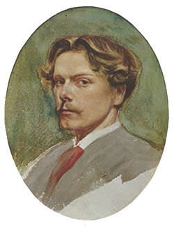 George du Maurier, self portrait as a young man