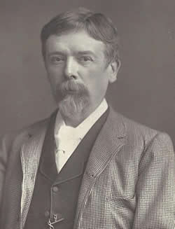 Photograph of George du Maurier in later life