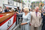 A Royal visit to Bookends of Fowey