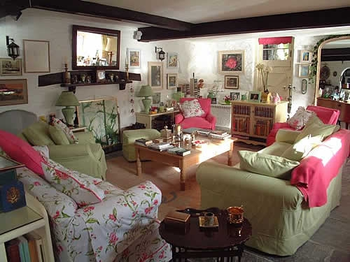 Ferryside sitting room in recent times